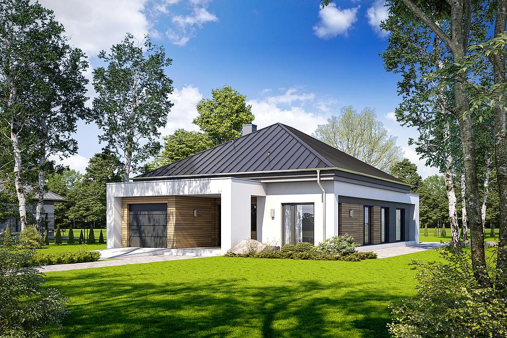 Przykładowy projekt domu - SPOKOJNY D51.